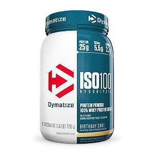 ISO 100 Whey Protein Isolado 100% Hidrolisado 726g  Dymatize chocolate