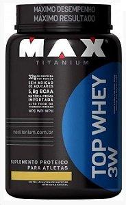 TOP WHEY 3W (900G) Baunilha MAX TITANIUM