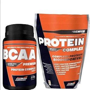 KIT Whey Protein Complex 1800g + Bcaa 120 Caps New Millen