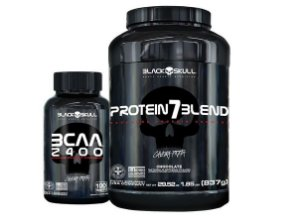 KIT Black Skull Whey Protein 7 Blend