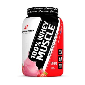 100% Whey Muscle 900g - Morango Body Action