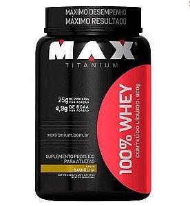 100% Whey Protein Baunilha - Max Titanium