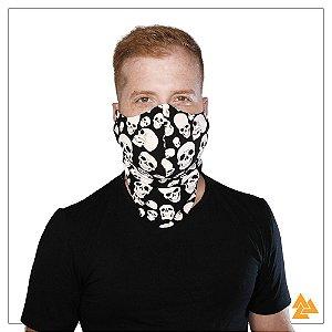 Máscara para Barbudos Preta - Caveira Branca