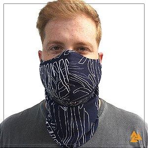 Máscara para Barbudos Marinho Riscos Brancos
