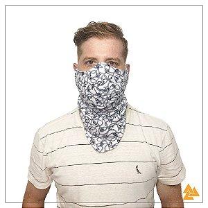 Máscara para Barbudos Branca Estampa Náutico