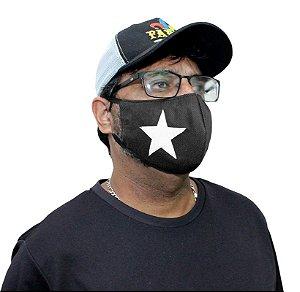 Máscara Lavável Botafogo Estrela Solitária Kit com 5 Unidades