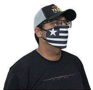 Máscara Lavável Botafogo Bandeira Kit com 5 Unidades