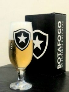 Taça Cerveja Do Botafogo 300ml Na Caixa