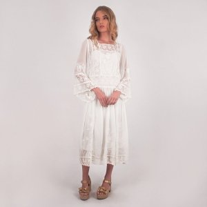 VESTIDO MIDI OFF WHITE RAISSA