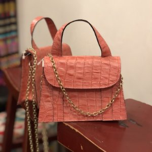 Bolsa Mini Bag Couro
