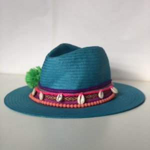Chapéu Azul Pompom Ousar Sianinha