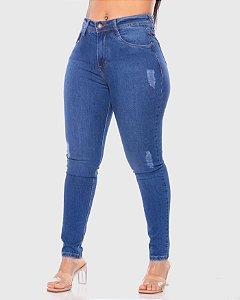 Calça Jeans Cigarrete LPP C/ Leve Puido REF 09043