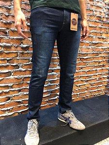 Calça Jeans Masculina Skinny Elastano Com Puídos