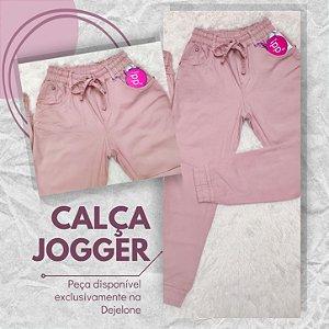 Calça Feminina Jogger Colorida Salmão Clarinho RED.08328