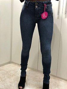 Calça Feminina Skinny Cintura Baixa com Bordadinho na frente RED.07549