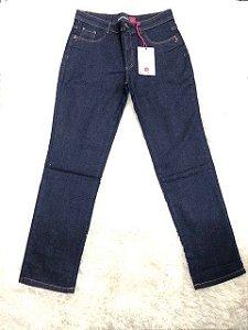 Calça Feminina Plus Size Cintura Alta com Elastano Azul Intenso RED 07293