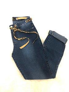 Calça Jeans Com Cinto Oncinha