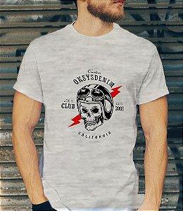 Camiseta Masculina Oksys Denim skull
