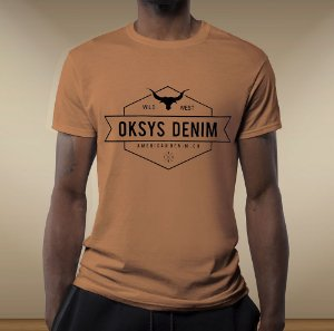 Camiseta gola redonda Oksys  wild west