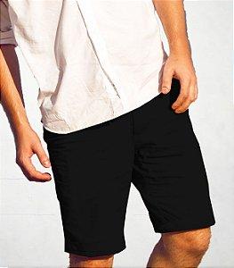 Bermuda masculina Oksys preta