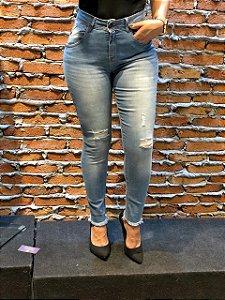 Calça Jeans Skinny Desfiado na barra Clarinha REF 08789