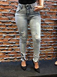 Calça Skinny Clara Ziper na Barra REF 08789