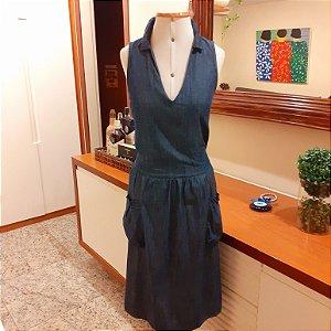 Vestido Jeans Cantão Blue, tam P (veste 40/42)