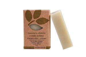 Shampoo Sólido Natural de Murumuru, Abacate e Limão Siciliano 115g - Ares de Mato
