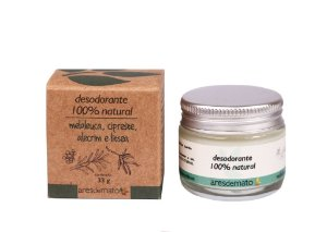 Desodorante Natural em Creme de Melaleuca, Cipreste e Alecrim 33g – Ares de Mato