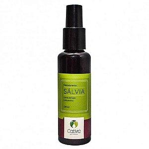 Desodorante Spray Natural de Sálvia  120ml - Cativa Natureza