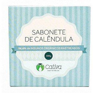 Sabonete Orgânico e Vegano de Calêndula 100g - Cativa Natureza