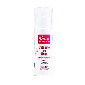 Bálsamo Facial Natural de Rosa 30g - Livealoe