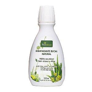 Enxaguante Bucal Natural e Vegano 250ml - Livealoe