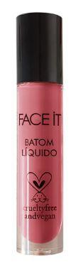 Batom Líquido Longa Duração SWEET KISS Rosa 5g - FaceIt