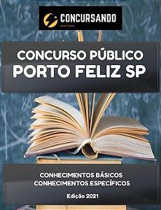 APOSTILA PREFEITURA DE PORTO FELIZ SP 2021 PROFESSOR ADJUNTO DE EDUCAÇÃO BÁSICA II DE INGLÊS
