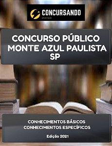 APOSTILA PREFEITURA DE MONTE AZUL PAULISTA SP 2021 PEB II MATEMÁTICA