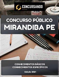 DUPLICADO - APOSTILA PREFEITURA DE MIRANDIBA PE 2021 PROFESSOR DE EDUCAÇÃO FÍSICA
