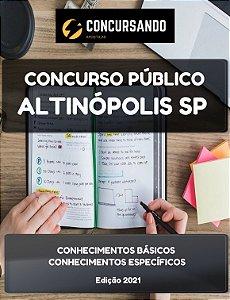APOSTILA PREFEITURA DE ALTINÓPOLIS SP 2021 AUXILIAR DE CONSULTÓRIO DENTÁRIO I