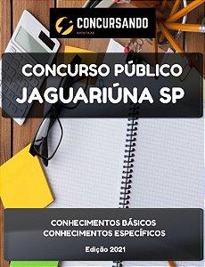 APOSTILA PREFEITURA DE JAGUARIÚNA SP 2021 PROFESSOR DE EDUCAÇÃO BÁSICA II LÍNGUA PORTUGUESA