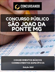 Apostila PREFEITURA DE SÃO JOÃO DA PONTE MG 2021 Supervisor Pedagógico