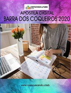 APOSTILA PREFEITURA DE BARRA DOS COQUEIROS SE 2020 ASSISTENTE SOCIAL