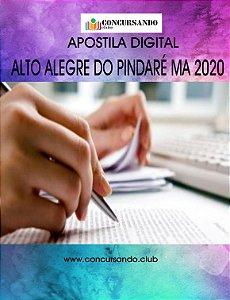 Apostila PREFEITURA DE ALTO ALEGRE DO PINDARÉ MA 2020 Professor do 1º ao 9º ano Inglês