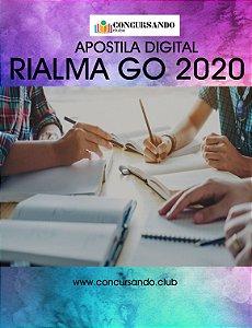 APOSTILA PREFEITURA DE RIALMA GO 2020 NUTRICIONISTA