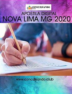 APOSTILA PREFEITURA DE NOVA LIMA MG 2020 AGENTE COMUNITÁRIO DE SAÚDE