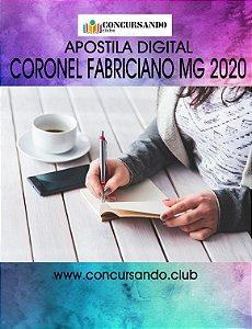APOSTILA PREFEITURA DE CORONEL FABRICIANO MG 2020 PROFESSOR DE EDUCAÇÃO BÁSICA - INGLÊS