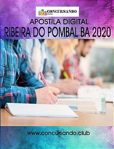 APOSTILA PREFEITURA DE RIBEIRA DO POMBAL BA 2020 PSICÓLOGO
