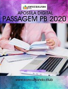 APOSTILA PREFEITURA DE PASSAGEM PB 2020 ASSISTENTE SOCIAL