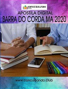 APOSTILA PREFEITURA DE BARRA DO CORDA MA 2020 NUTRICIONISTA