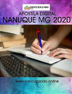 APOSTILA PREFEITURA DE NANUQUE MG 2020 PORTUGUÊS