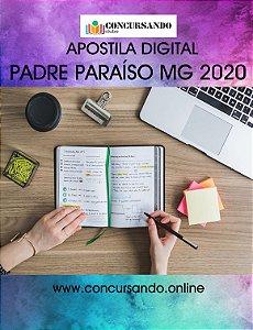 APOSTILA PREFEITURA DE PADRE PARAÍSO MG 2020 FISCAL DE OBRAS E POSTURAS
